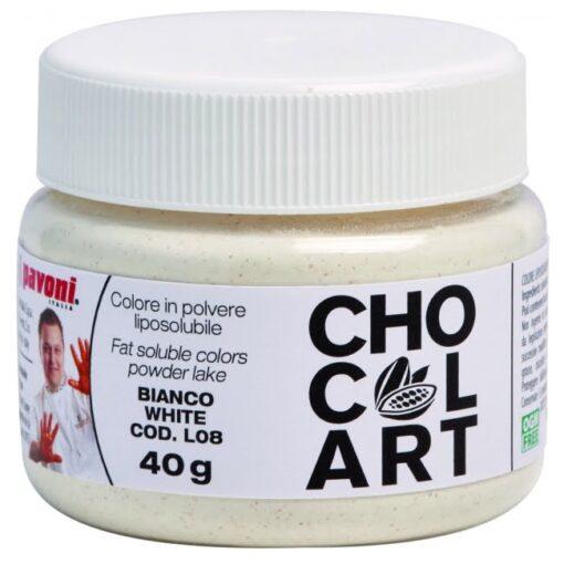 Colorant Alimentar Pudra Liposolubil CHOCOLART, Alb, 40 gr - Azo Free - Pavoni