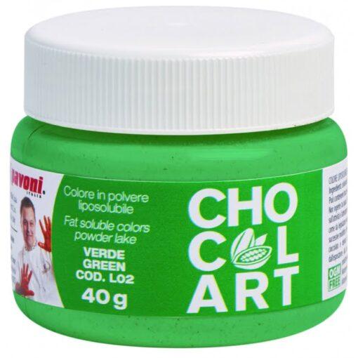 Colorant Alimentar Pudra Liposolubil CHOCOLART, Verde, 40 gr - Pavoni