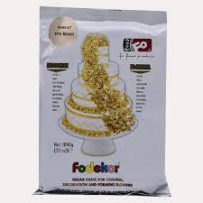 Pastă de zahăr pentru acoperire, decor și flori - IVORY - 1KG - FODEKOR