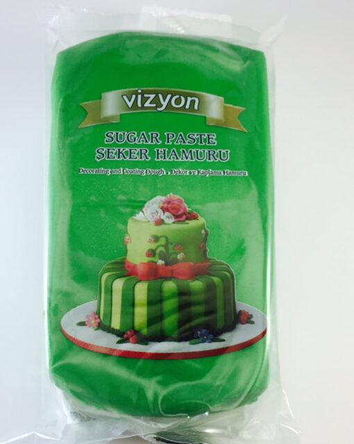 Pastă de zahăr - VERDE INCHIS- 1kg - VIZYON