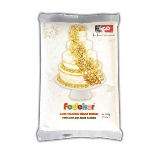 Pastă de zahăr pentru acoperire, decor și flori - ALB - 1KG - FODEKOR