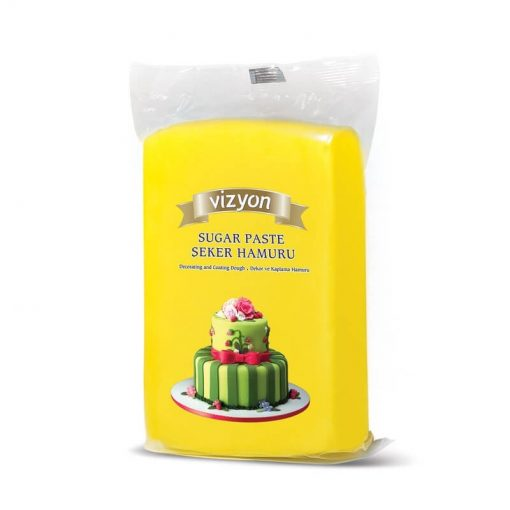 Pastă de zahăr - GALBEN - 1kg - VIZYON