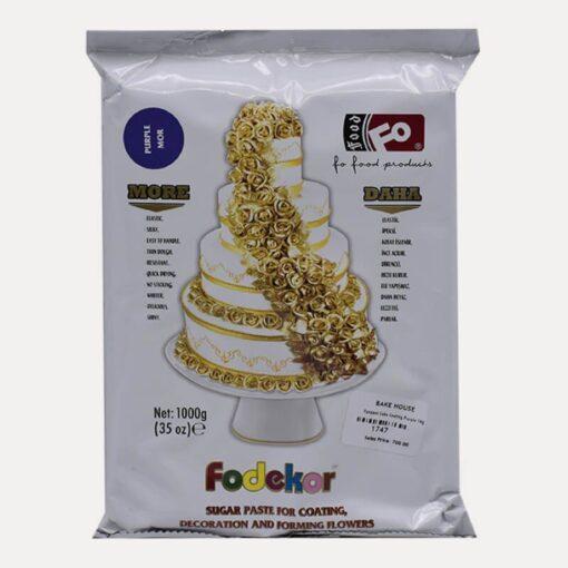 Pastă de zahăr pentru acoperire, decor și flori - VIOLET - 1kg- FODEKOR