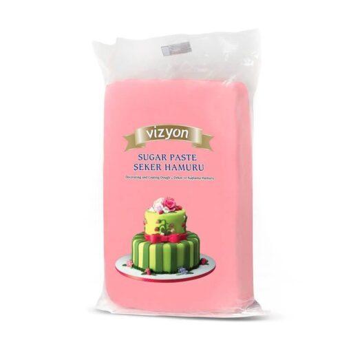 Pastă de zahăr - ROZ - 1kg - VIZYON