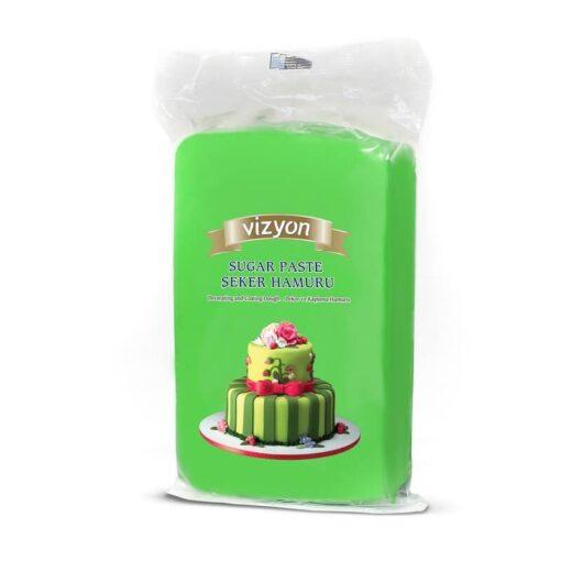 Pastă de zahăr - VERDE DESCHIS - 1kg - VIZYON