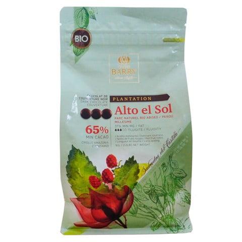 Ciocolată PREMIUM neagră organică - cacao 65% - 1kg - Cacao Barry®