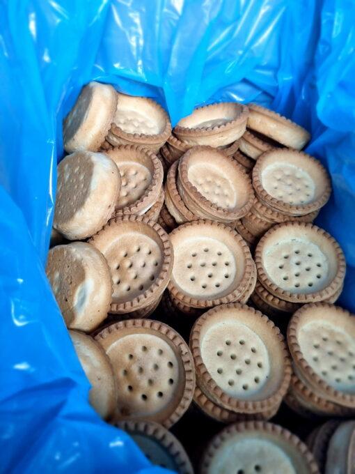 Set 100 buc coji pentru minitarte-Rotunde Vanilie - 44mm