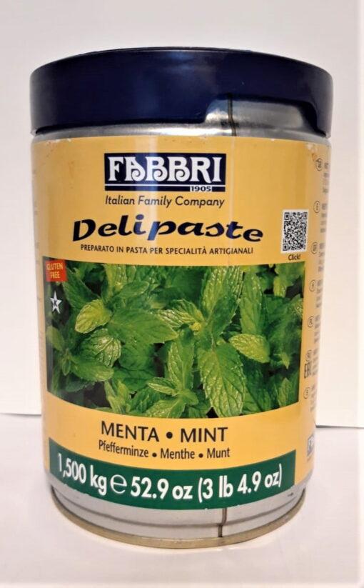 Pastă concentrată aromatizantă-Delipaste-MENTA - 1.5 kg -FABBRI