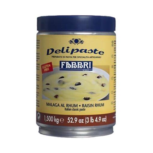 Pastă concentrată aromatizantă-Delipaste-ROM MALAGA -1.5 kg-FABBRI
