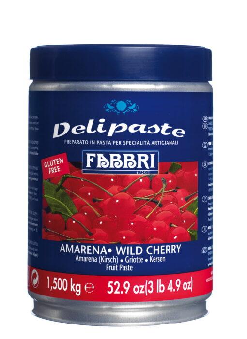 Pastă concentrată aromatizantă-Delipaste-AMARENA -1.5 kg - FABBRI