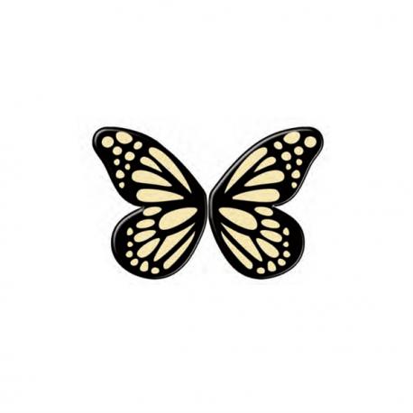 Fluturas din ciocolata neagra-4 CM-Dekora