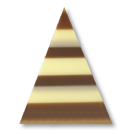 Triunghi din ciolata alba si neagra-3X3X5 CM-Dekora