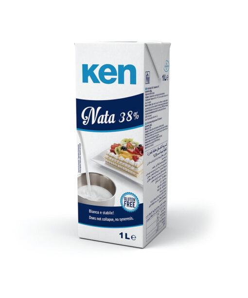 Smantana pentru Frisca Naturală 38% UHT (fără caragenan), 1L - Ken