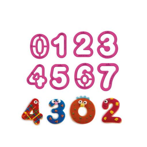 Set 9 buc Decupatoare din plastic- NUMERE-5.2x2.2cm- Decora