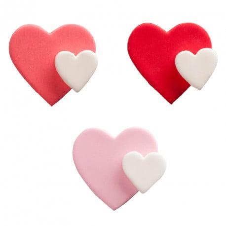 Sortiment decor din zahar inimioare 4,5 cm - DeKora