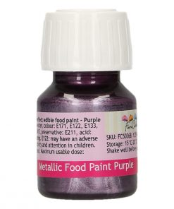 Colorant alimentar cu efect metalic - PURPLE - 30 ml -Funcakes