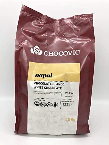 Ciocolată Napal alba 29.6% - 1,5 KG - Chocovic