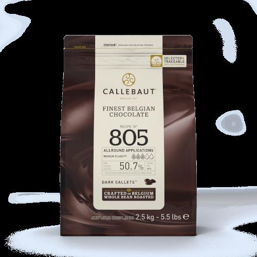 Ciocolata Neagra 50,7% Recipe 805 - 2,5 Kg - Callebaut