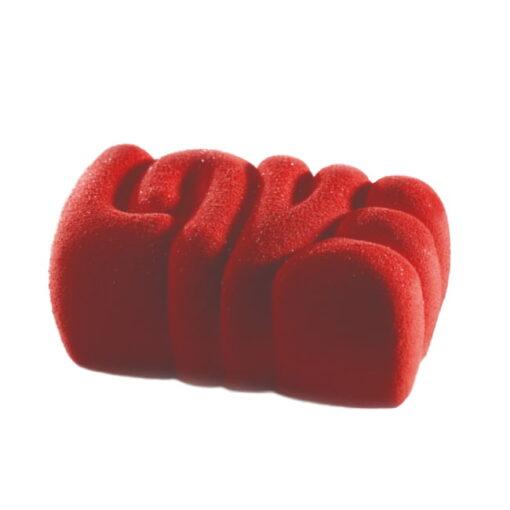 Forma Silicon Tort 3D-LOVE-20x12.6xH5cm-Pavoni
