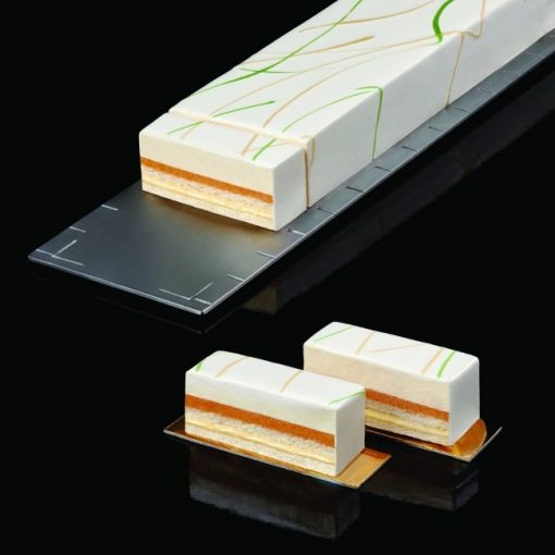 Platou din inox pentru portionarea deserturilor-60 x 12 cm-Pavoni