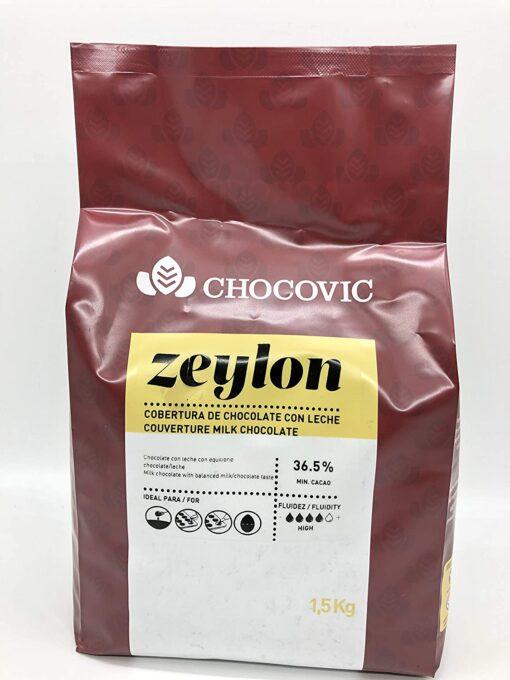 Ciocolată cu lapte-Zeylon milk Couverture 36.5% - 1,5 KG - Chocovic
