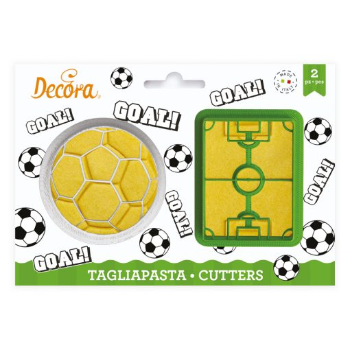 Set 2 buc Decupatoare din plastic -Teren de Fotbal - Decora