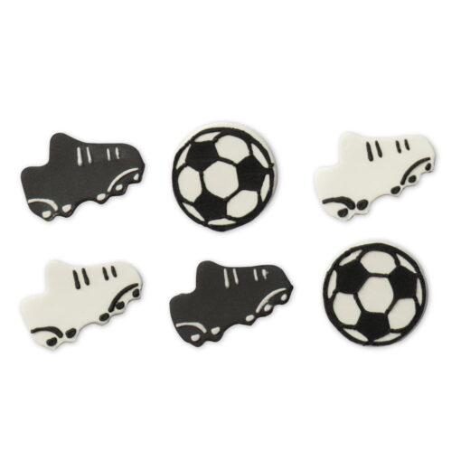 Decoratiune din zahar - Echipament Fotbal - 3 – 4 cm -Decora