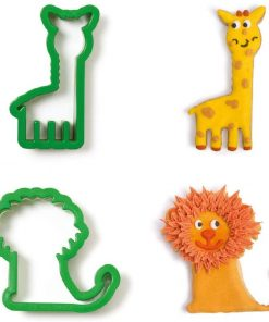 Set 2 buc Decupatoare din plastic - GIRAFA AND LION- Decora
