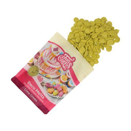 Ciocolată glazuri (Deco Melts)-LIME GREEN -250 gr -Funcakes