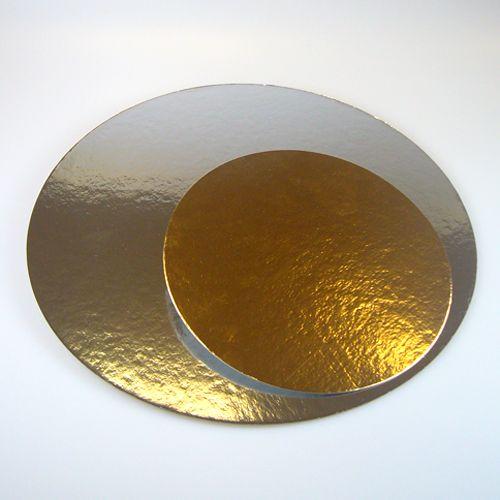 Set 3 buc Discuri pentru tort GOLD/SILVER -ROTUND- 15-20 cm -Funcakes