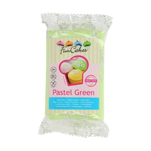 Fondant-PASTEL GREEN-250G-Funcakes