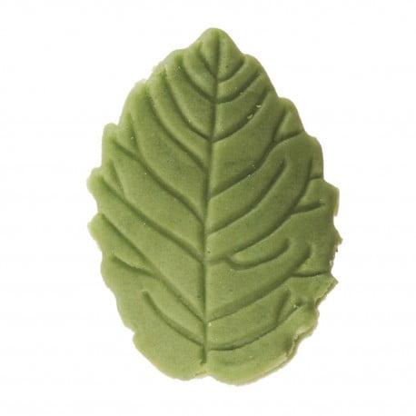 Decoratiune comestibila tort -OLIVE GREEN LEAF 3,7CM- Dekora