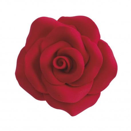 Decoratiune comestibila tort -RED ROSE Ø 7CM- Dekora