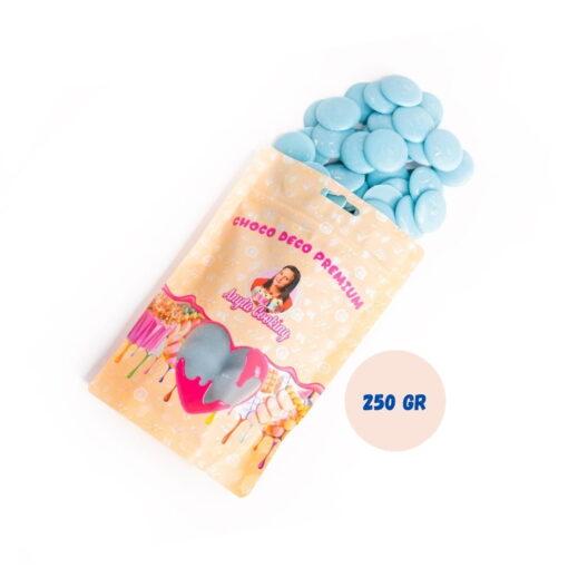 Cioco Deco Premium (Deco Melts)-250g-(Albastru Deschis-Vanilie)-Anyta Cooking