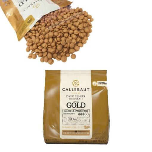 Ciocolata Alba cu Caramel, GOLD 400 g - Callebaut