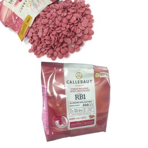 Ciocolata RUBY, 400 g - Callebaut (Aroma si culoare naturala roz)