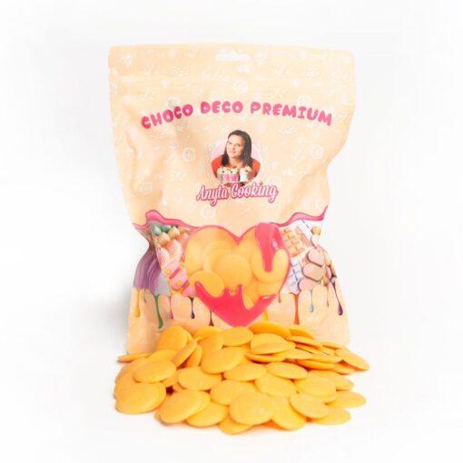 Cioco Deco Premium (Deco Melts)-250g-Portocaliu-Portocale-Anyta Cooking