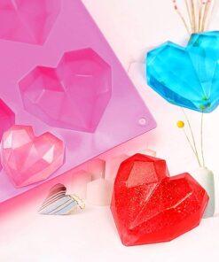 Forma Silicon Inima Diamantata cu 6 cavitati - HpySpr