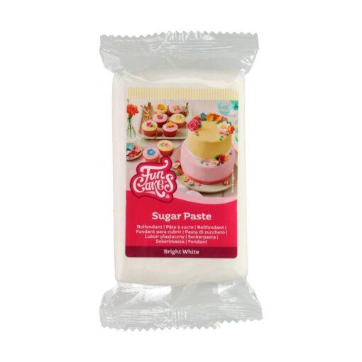 Fondant -BRIGHT WHITE -250 GR- Funcakes
