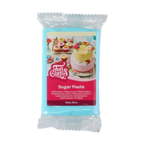 Fondant -BABY BLUE -250 GR- Funcakes