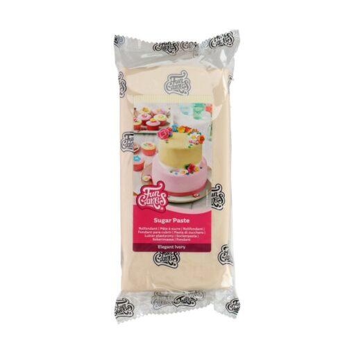 Fondant -ELEGANT IVORY -1 kg- Funcakes