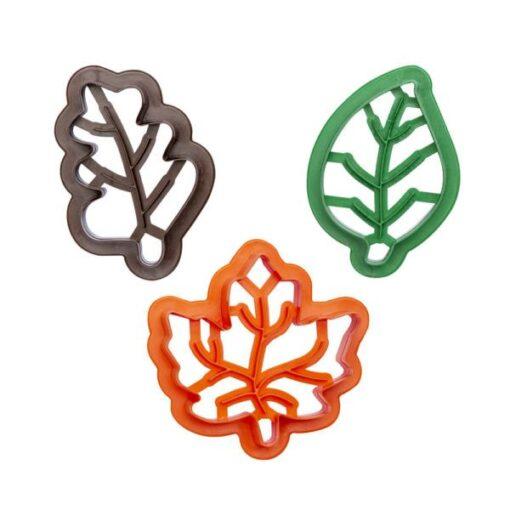 Set 3 buc Decupatoare din plastic -FRUNZE- 4,5 - 7 și 7 cm - Decora
